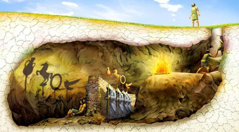 Image result for anime plato's cave