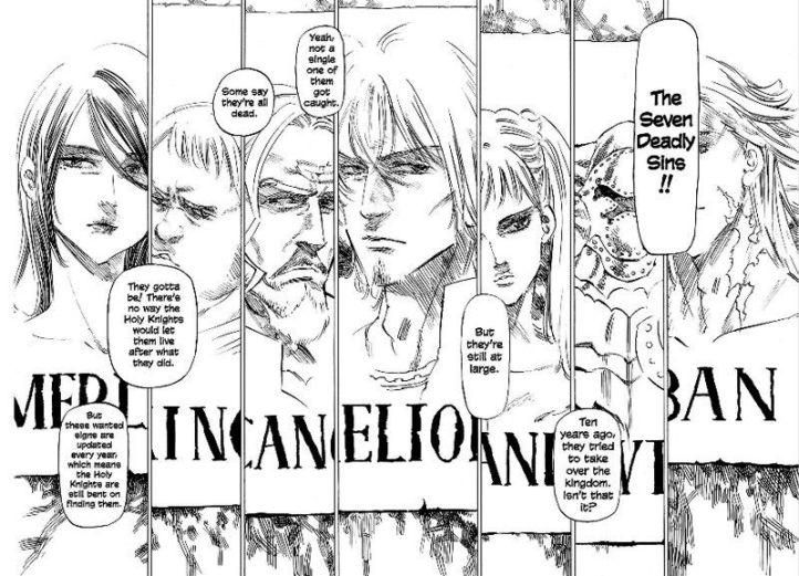 """Résultat de recherche d'images pour """"seven deadly sins 1 manga"""""""