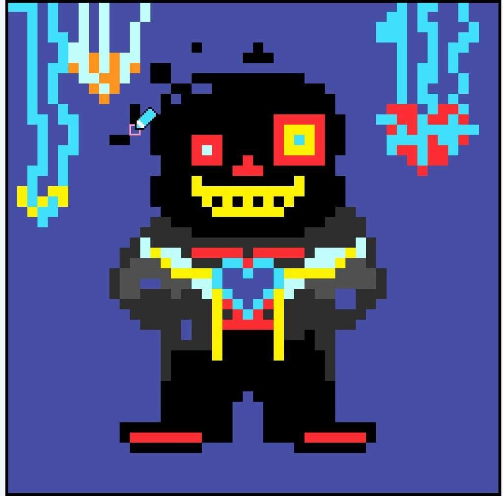 Horror Sans Undertale Pixel Art