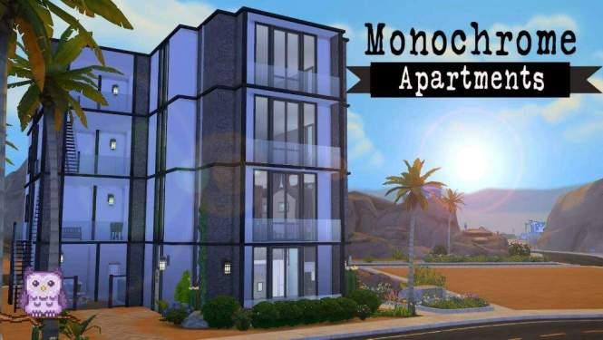 Monochrome Apartments Sims 4 Sd