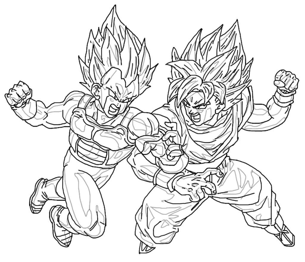 Digital Drawing Ssgss Copy Vegeta Vs Ssgss Goku