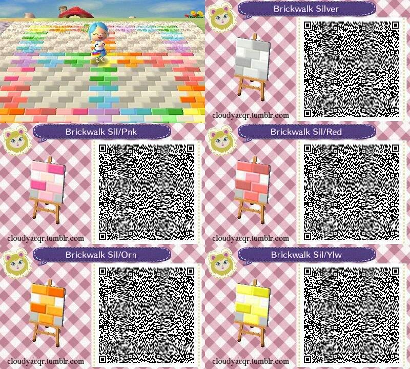 Animal Crossing New Leaf Qr Codes Paths Autumn Leafjdi Co