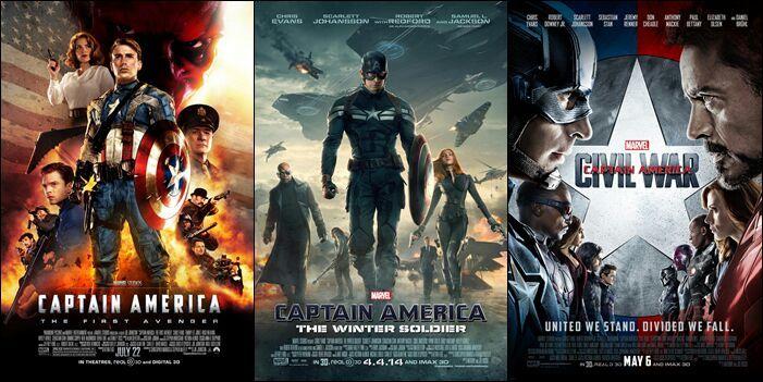 Resultado de imagen para trilogia Capitan America
