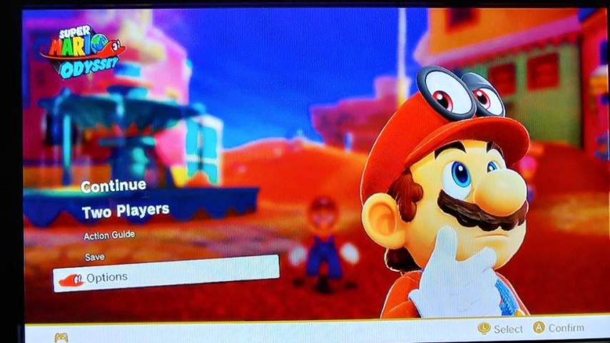 Super Mario Odyssey DOES have multiple save files   Nintendo Switch     First go to the pause menu and select options