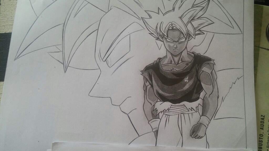 Dibujos De Goku Ultra Instinto Perfecto Para Colorear On Log Wall