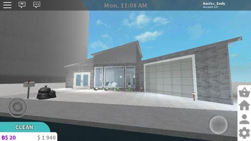 Bloxburg My 1 Story Modern House Wip Roblox Amino