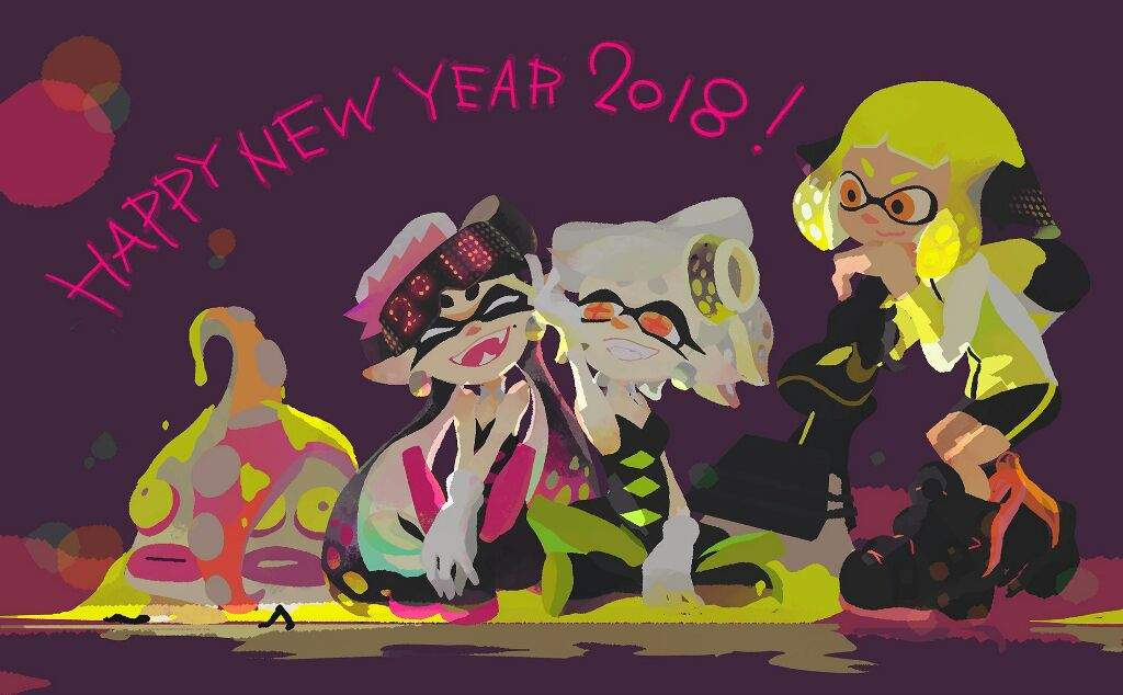 Happy New Year 2018 from Nintendo with a new official Splatoon 2     Happy New Year 2018 from Nintendo with a new official Splatoon 2 artwork     Splatoon2       Amino
