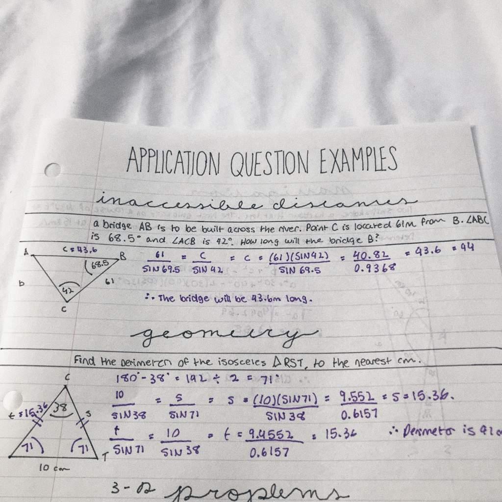 Trigonometry Exam Notes Grade 10