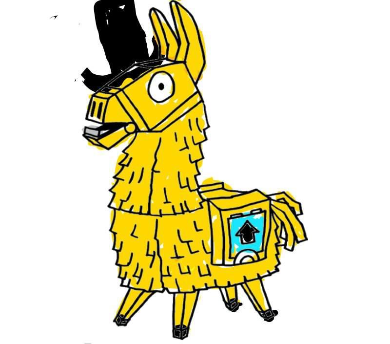 golden llama drawing not that good xd  fortnite battle