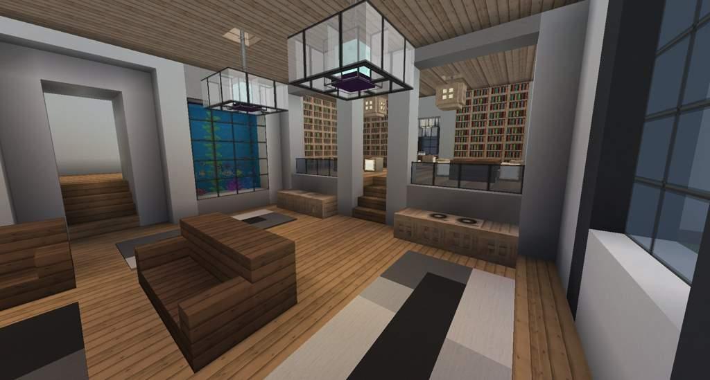 Bedroom Minecraft Modern House Interior Design - Home ...