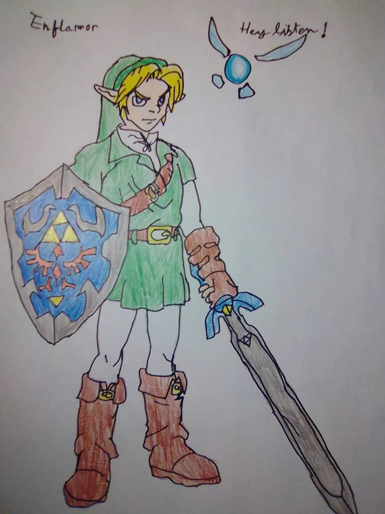 Mon Dessin De Link Oot Navi The Legend Of Zelda Francais Amino