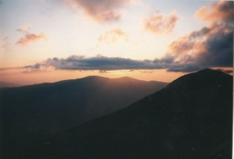 Sunset over Franconia Notch, near Mt. Flume