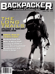 Backpacker Magazine – March, 1989