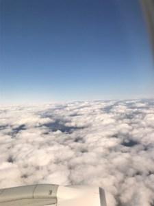 修行二日目機内からの景色1