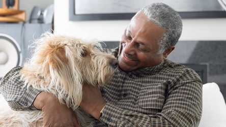 Older man with dog