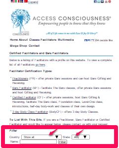 Bars facilitator page