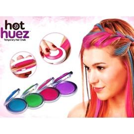 4 fards craies mascaras À cheveux coloration temporaire festive 4 couleurs