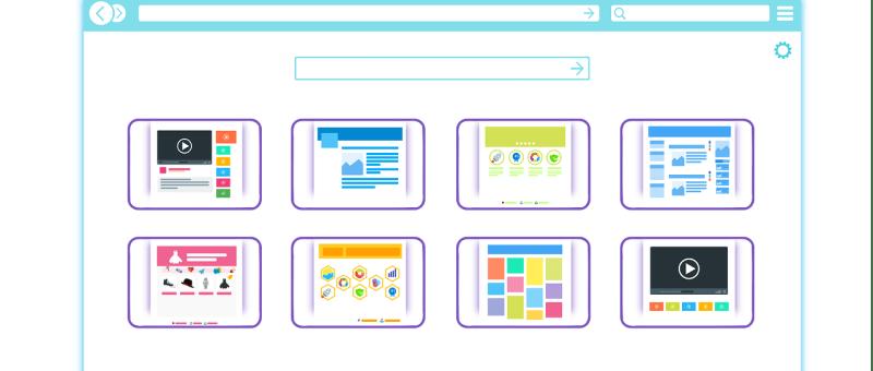 Un navigateur web avec plusieurs boutons