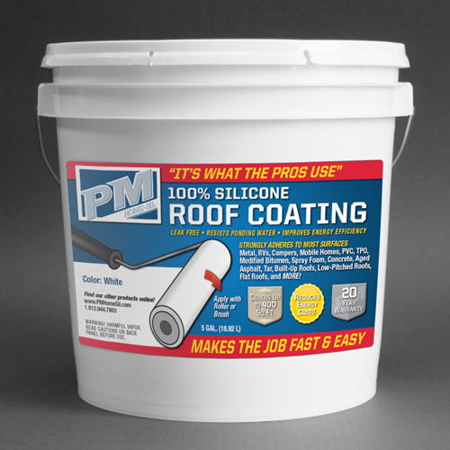 100% silicone roof coating residential bucket