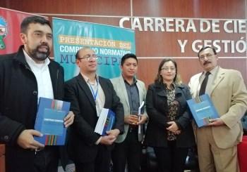 """Presentación del """"Compendio Normativo Municipal"""" instrumento jurídico elaborado por la FAM-Bolivia y él SEA"""
