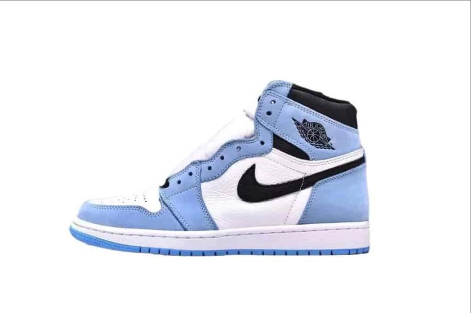 Jordan 1 Retro High White University Blue Black (1)