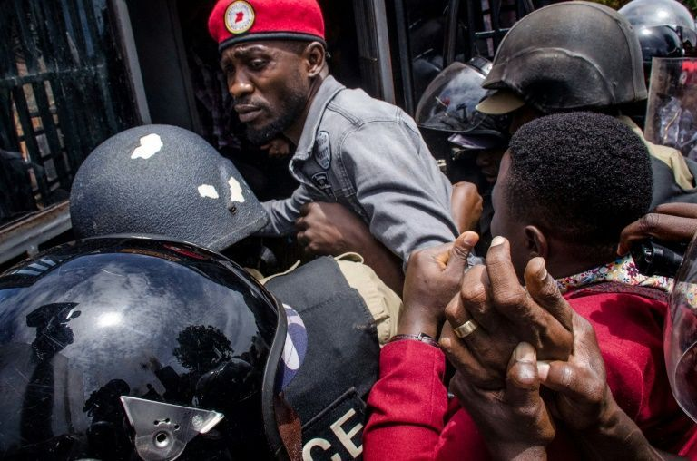 Bobi Wine engages in tense standoff with police over Kyarenga concert.