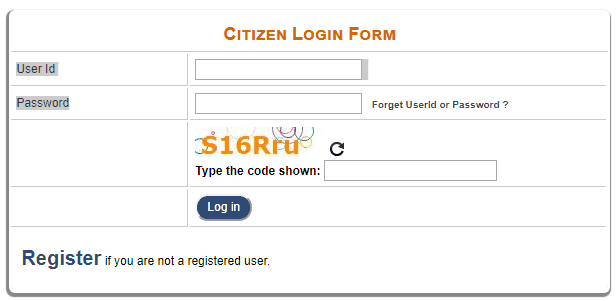 Login in Delhi e-district Portal