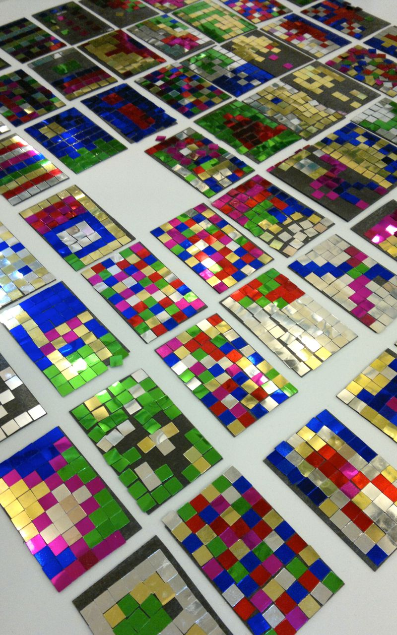 The collective pixel art coming together at MEX