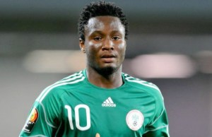 Mikel Obi, the Skipper of the Nigerian National football team...already on ground to lead others to victory...