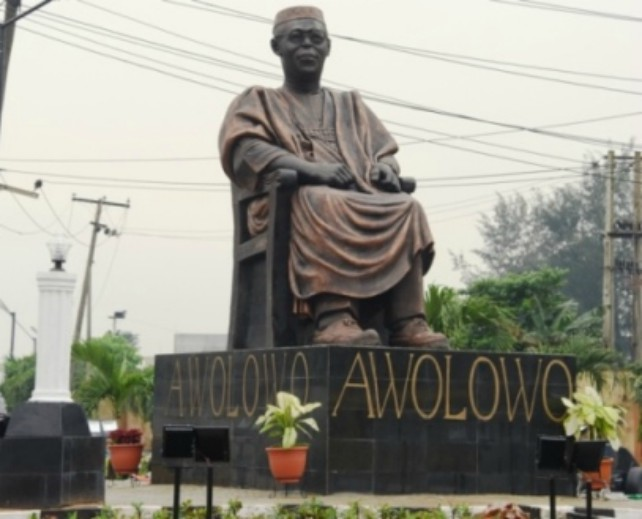 Image result for Awolowo, Fela Statues On Allen Roundabout