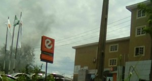 GTBank's E-Branch in Ibadan...one of those terribly affected during the crisis...
