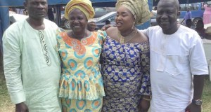 Late Dele Jonathan's wife and the children