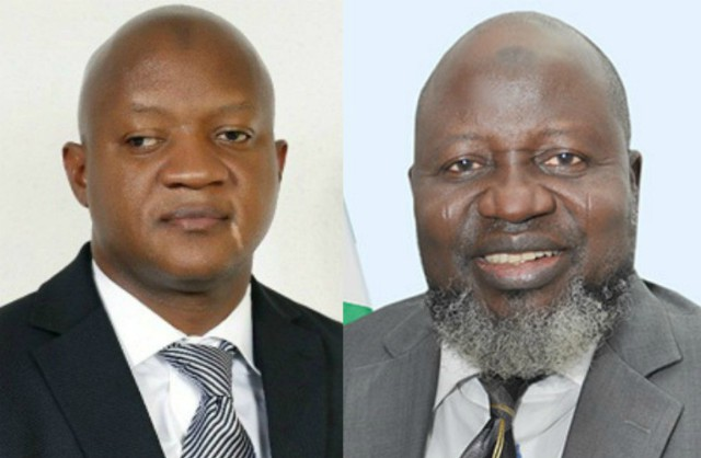 Two Barristers...Akeem Agbaje, left, with Adebayo Shittu...serious contenders...