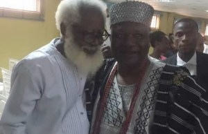 Oba Adedokun Abolarin, right, with Dr Yemi Farounbi at the event...