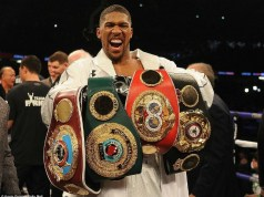 Boxing's undisputed World Heavyweight Champion, Anthony Joshua