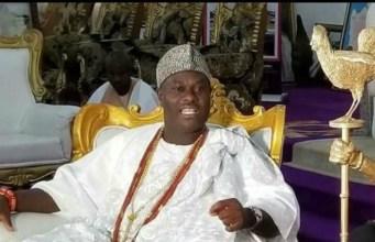 The Ooni of Ife, Oba Adeyeye Ogunwusi...