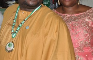 Chief Adebayo Adelabu, with his charming wife, Oluseyi...sharing the glorious moment together...