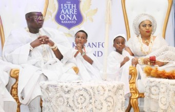 Dr Gani Adams and his family at the birthday celebration...