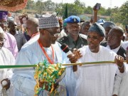 From left, The Akire of Akire, Oba , Olatunde Falabi, Minister of Education, Mallam Adamu Adamu, Governor Rauf Aregbesola of Osun and Commissioner for Education, Hon. Omotunde Young, at the event…