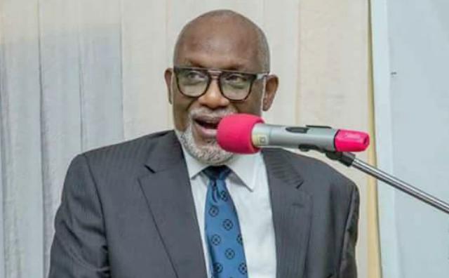 Governor Oluwarotimi Akeredolu...warns Ekiti's Governor Ayodele Fayose...