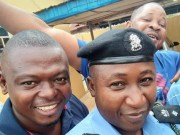 CSP Sola Aremu, right, with his friends...
