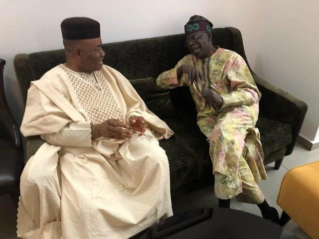 Sen Godswill Akpabio with APC's Senator Bola Tinubu