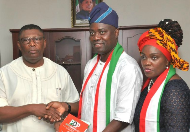 Image result for PDP's Oyo Gov candidate Seyi Makinde wins 27 of 33 LGAs so far