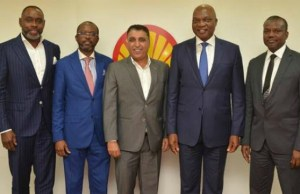 L-R: Chairman, Saidel Limited, Akanimo Udofia; General Manager, Project and Engineering, Shell Petroleum Development Company (SPDC), Toyin Olagunju; Senior Vice President, Sapura Energy, Vivek Arora; Country Chair, Shell Companies in Nigeria and Managing Director of SPDC, Osagie Okunbor; and General Manager, Business and Government Relations of SPDC, Bashir Bello, during the visit…
