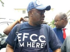 Ayodele Fayose...on arrival at the Abuja Office of EFCC...