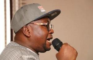 Chief Adebayo Adelabu...delivering his speech...