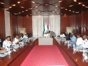 President Muhammadu Buhari with the Heads of the National Security Council...during the meeting...