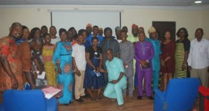 Participants and organizers in a group photograph shortly after the workshop…