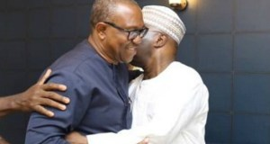 Alhaji Atiku Abubakar, right, with Peter Obi...trudging on together...