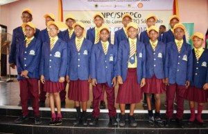 A cross section of the 2018/2019 NNPC/SNEPCo Cradle-to-Career Beneficiaries during the award ceremony at Grundtvig Secondary School, Onitsha in Anambra State…recently…